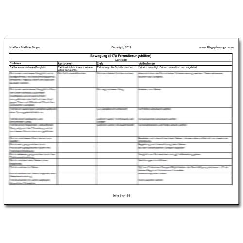Download 2178 Formulierungshilfen Bewegung Pflegeplanung