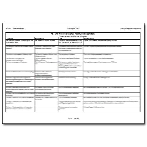 Download 777 Formulierungshilfen An-, Auskleiden Pflegeplanung