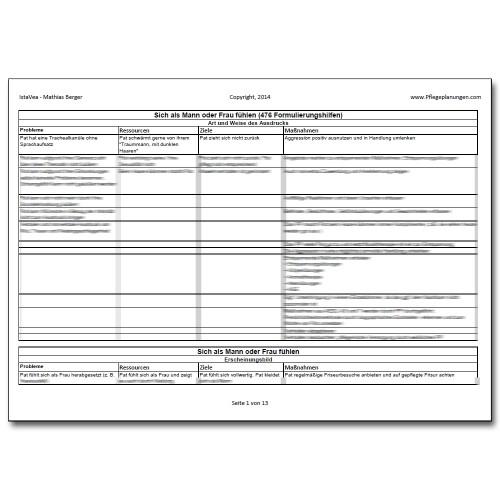 Download 476 Formulierungshilfen Mann Frau sein Pflegeplanung