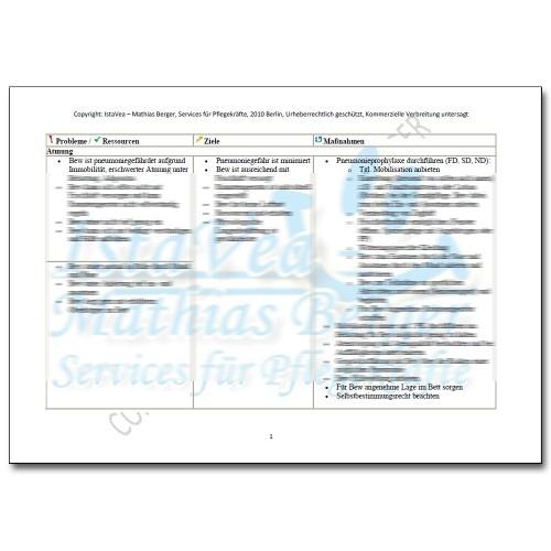 Download Pflegeplanung Immobilität, Gluten, Laktoseintoleranz, I