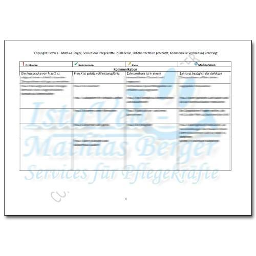 Pflegeplanung z.n. Oberschenkelhalsbruch, Osteoporose, Pneumonie