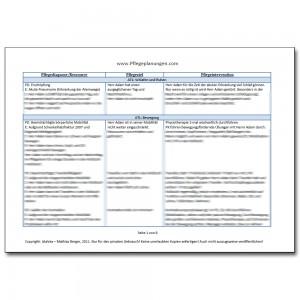 Pflegeplanung Pflegediagnosen PESR Pneumonie Bettlägerig